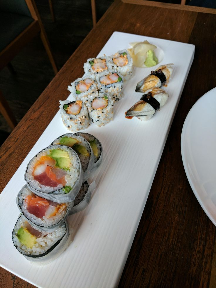 Unagi rock shrimp tempura roll and house roll from Matsuhisa Denver #sushi #food #foodporn #japanese #Japan #dinner #sashimi #yummy #foodie #lunch #yum