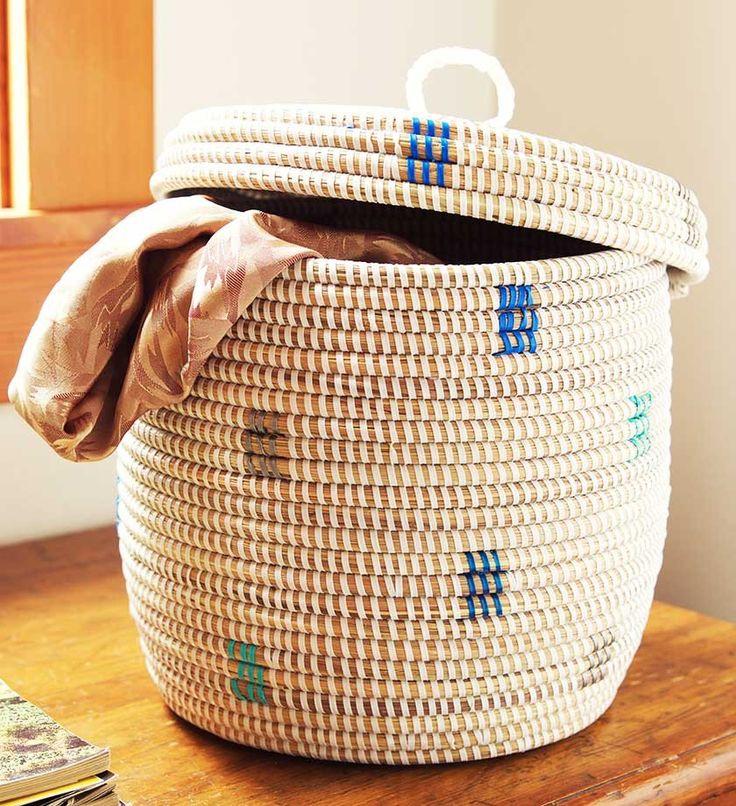 Blue Dot African Boutique Basket