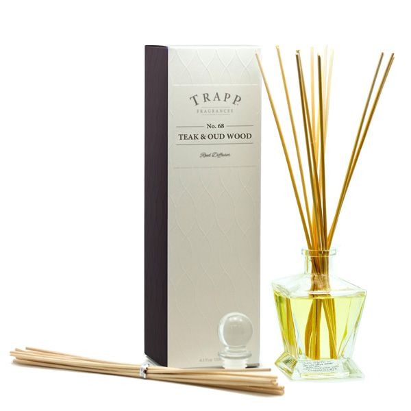 No. 68 Teak & Oud Wood - 4.5oz Reed Diffuser Kit | Trapp Candles