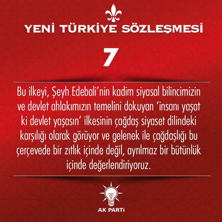 7.Madde, #YeniTürkiyeSözleşmesi
