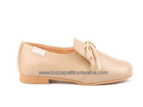 Zapatos Niño Ceremonia Camel Marca Angelito