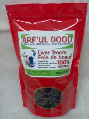 Beef Liver Treats 500g, $23.99, www.arfulgood.com