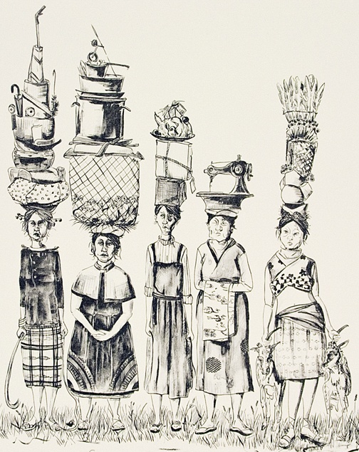 """Amy Cutler """"abstract, contemporary feminism"""" Exploring themes revolving around the maids."""
