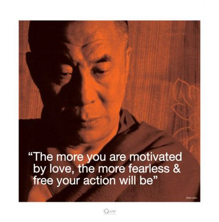 The Dalai Lama always speaks of Love..., how to find it, how to use it, how to share it once you understand it ~ His Wisdom is endless ~ accept His Holiness's Gifts for they Teach us so much, but most of all, I think, each message heals us.