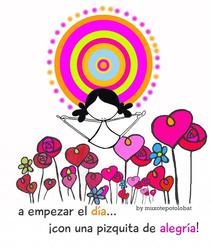 a empezar el día con alegría ♡ Teresa Restegui http://www.pinterest.com/teretegui/ ♡