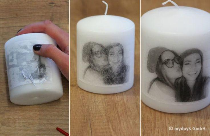 Erinnerungen zum Leuchten bringen – DIY Kerzen – #…