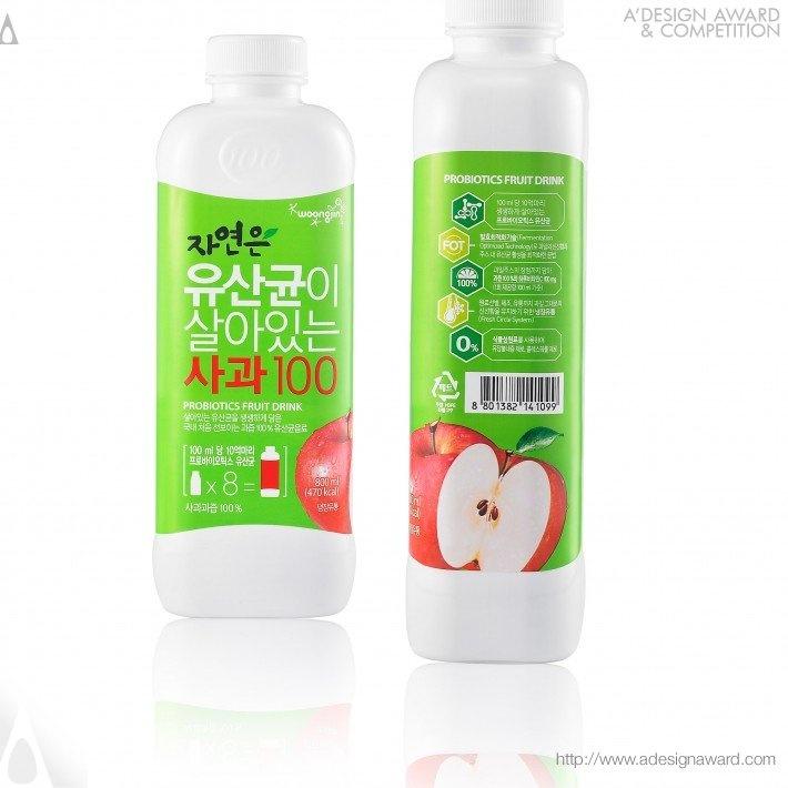 Probiotics Fruit Drink by Woongjin Food Design Team
