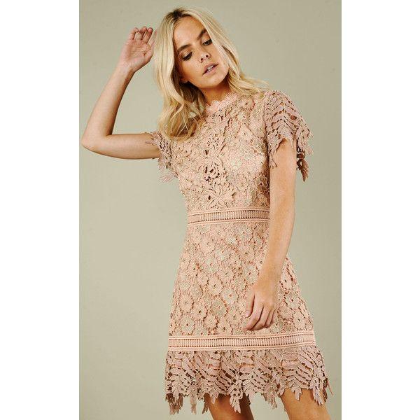 True Decadence Nude Mini Dress ($155) ❤ liked on Polyvore featuring dresses, neutral, mini dress, short dresses, nude dress, beige dress and true decadence