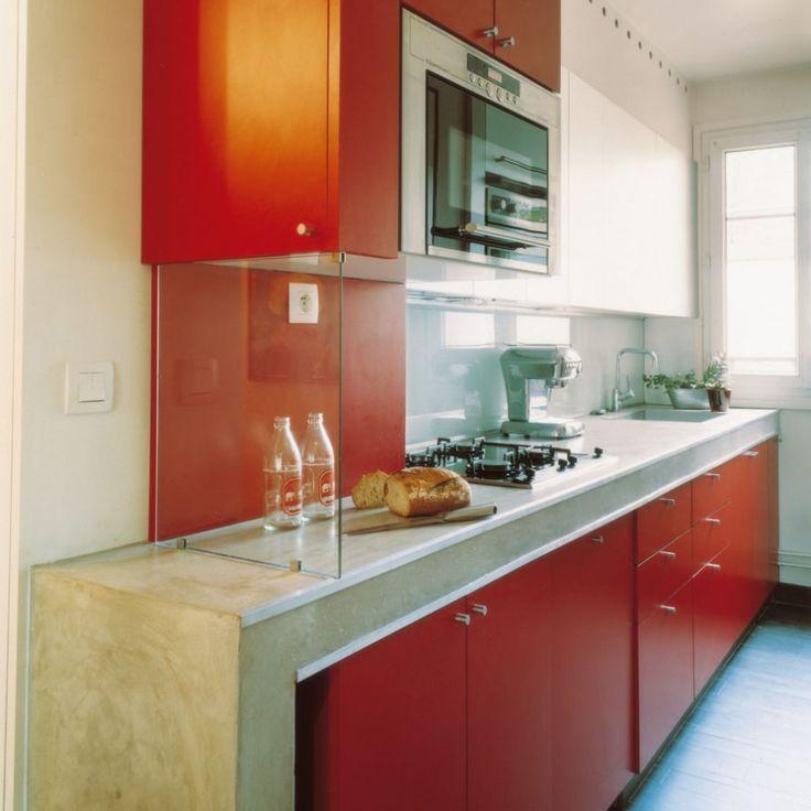 Mejores 132 im genes de cocinas rojas en pinterest for Amenagement cuisine 13m2