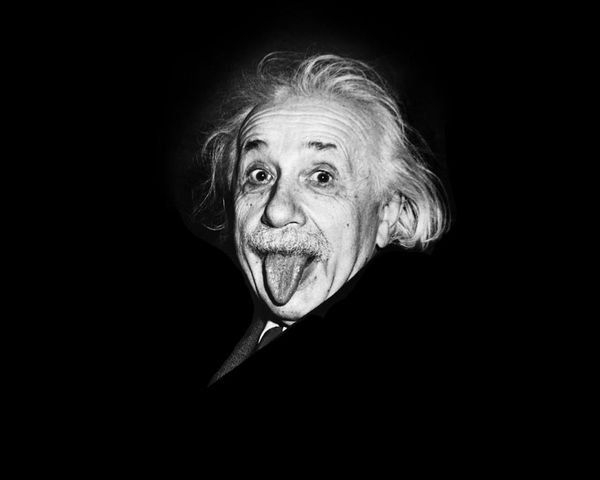 Photographer Arthur Sasse tried to make Albert Einstein smile for a photograph on this 72nd birthday. Tired of smiling for pictures, he stuck out his tongue. This has become one of the most iconic pictures of Einstein ever.