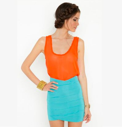 braidsColors Combos, Fashion, Summer Outfit, Color Combos, Clothing, Colors Block, Summer Colors, Bright Colors, Bandage Skirts