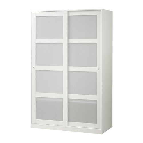 build guestroom closet around this with the top open for large items (down comforters)  KVIKNE Wardrobe with 2 sliding doors IKEA