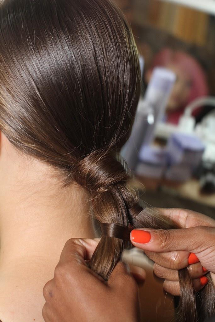 Marchesa Spring 2012 #ponytail details