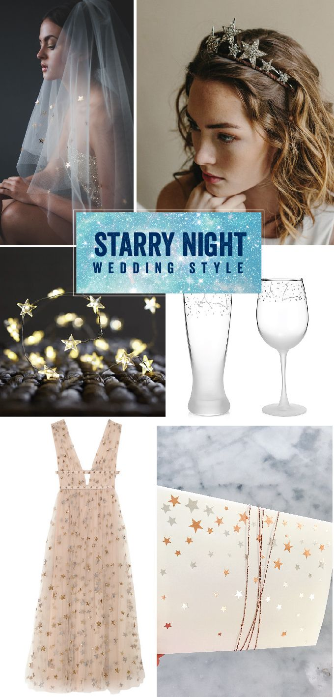 A starry night wedding inspirations | Wiley Valentine