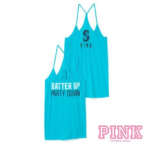 Seattle Mariners Victorias Secret PINKR Skinny Racerback Tank 3250