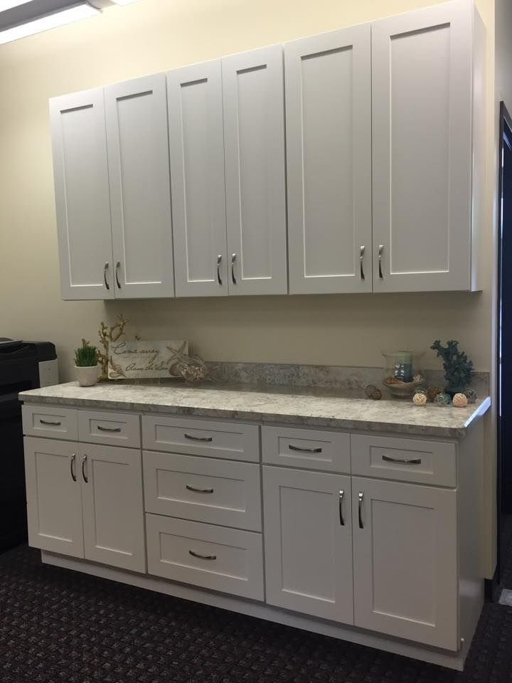 The shaker white 7 cabinet display is also for sale it for Upper cabinets for sale