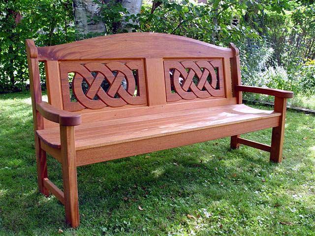 Celtic Bench By Niels Jensen Eastern Townships Of Quebec