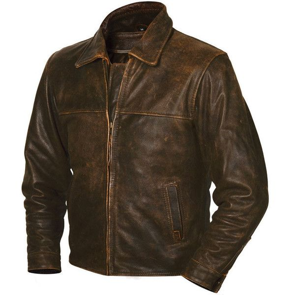 Men's STS Ranchwear Brown Rifleman Jacket ($280) ❤ liked on Polyvore featuring men's fashion, men's clothing, men's outerwear, men's jackets, jackets, men, mens brown leather jacket, mens leather jackets, mens real leather jackets and mens brown jacket