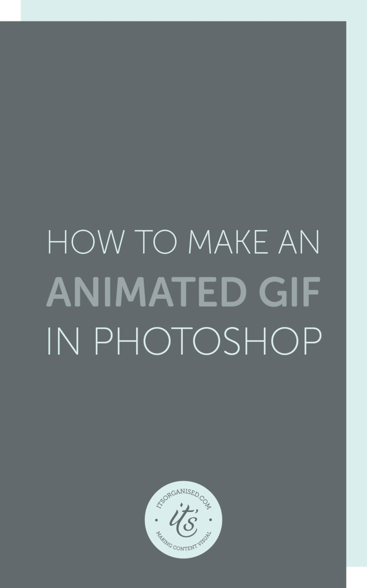 Creating an animated GIF file is quick and easy using Photoshop. It is a great way to repurpose your content, add variety to your visual marketing, and create something that's a little different, funny or eye-catching.