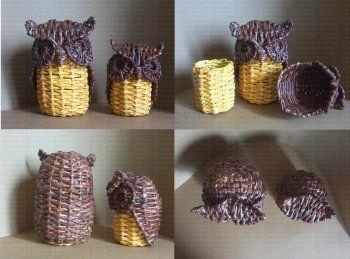 Cester a en papel de peri dico cester a china china - Cesteria con papel periodico paso a paso ...