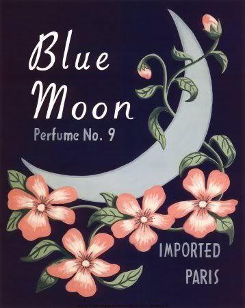 Blue Moon Vintage Perfume Ad