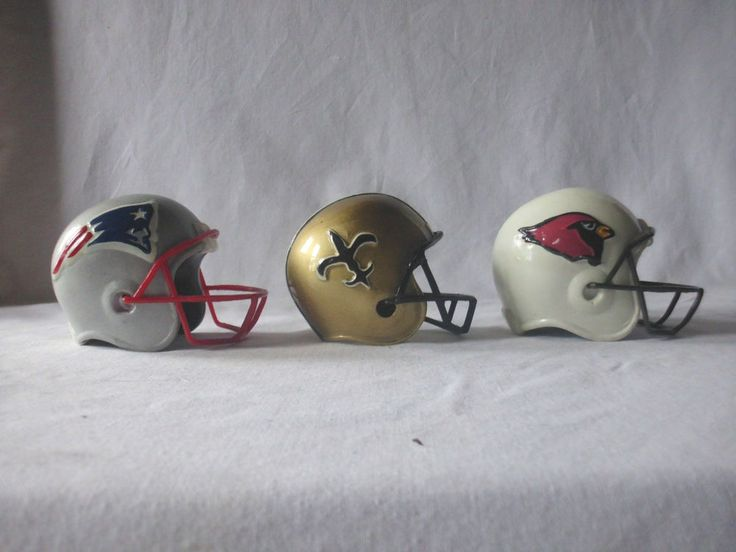 Lot of 3 Score Board Ceramic Helmets 1994 PATRIOTS, SAINTS, CARDINALS   | eBay