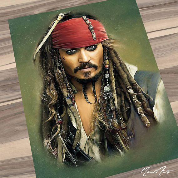 Captain Jack Sparrow alias Johnny Depp aus den Filmen Fluch