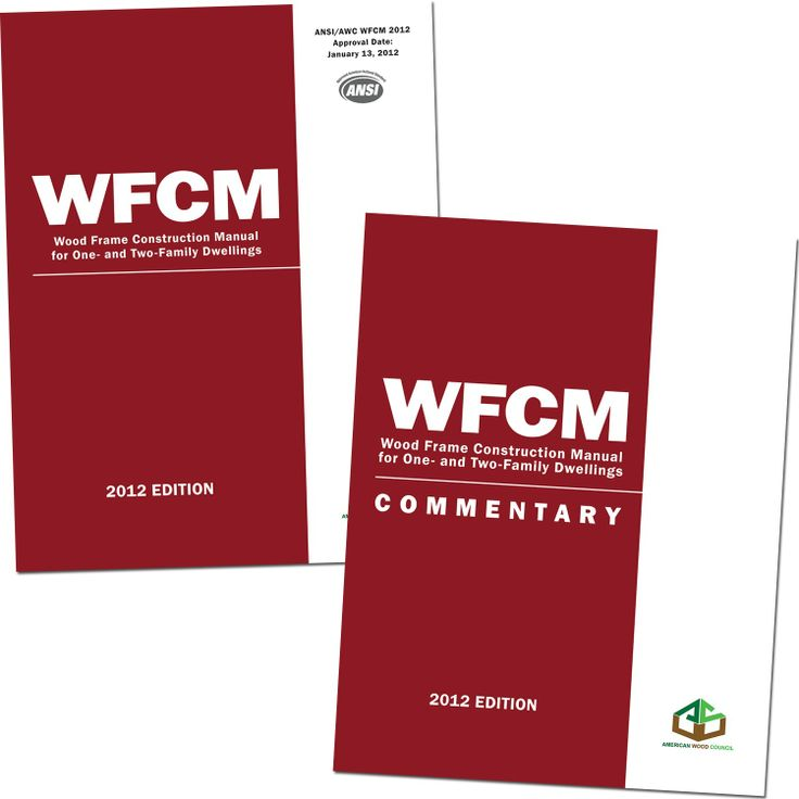 2012 wood frame construction manual for one and two family dwellings commentary to the wfcm business stuff pinterest wood frame construction - Wood Frame Construction Manual