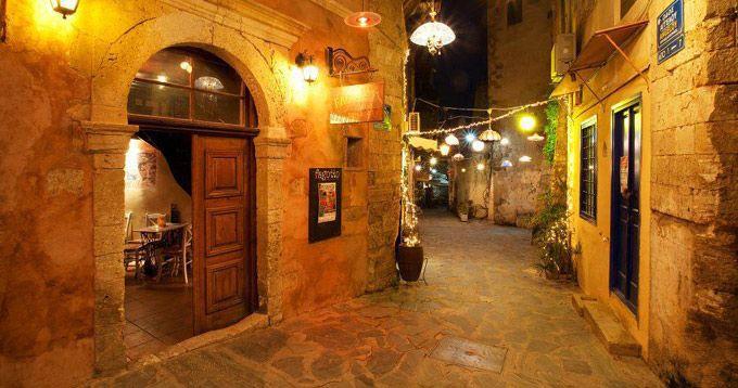Chania- alley- fagotto jazz cocktail bar