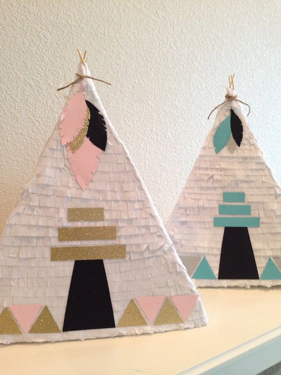 Hey, I found this really awesome Etsy listing at https://www.etsy.com/listing/225606664/teepee-pinata-for-pow-wow-birthday-party