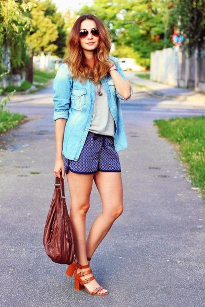 Primark t-shirt - Zara shoes - Zara shirt - H&M bag - Gate shorts