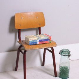 Children's Small Vintage Red Metal Legged Chairs | blueticking.co.uk | Industrial Furniture | Warehouse Home Design Magazine
