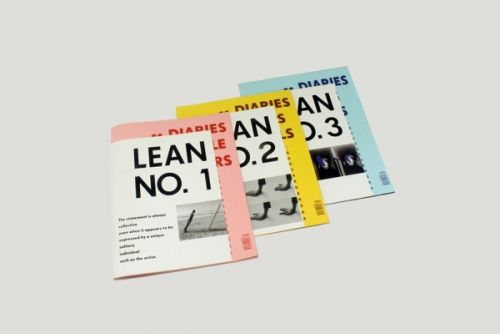 LEAN magazine - black and white and pop of color