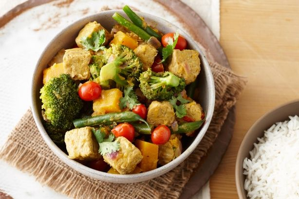 This hearty vegetarian curry is super quick and easy to prepare.