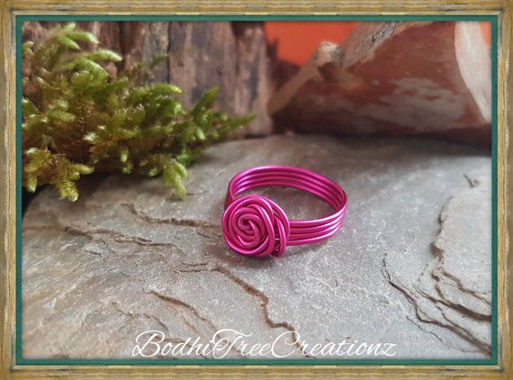 Hey, I found this really awesome Etsy listing at https://www.etsy.com/au/listing/488399069/hot-pink-rose-ring