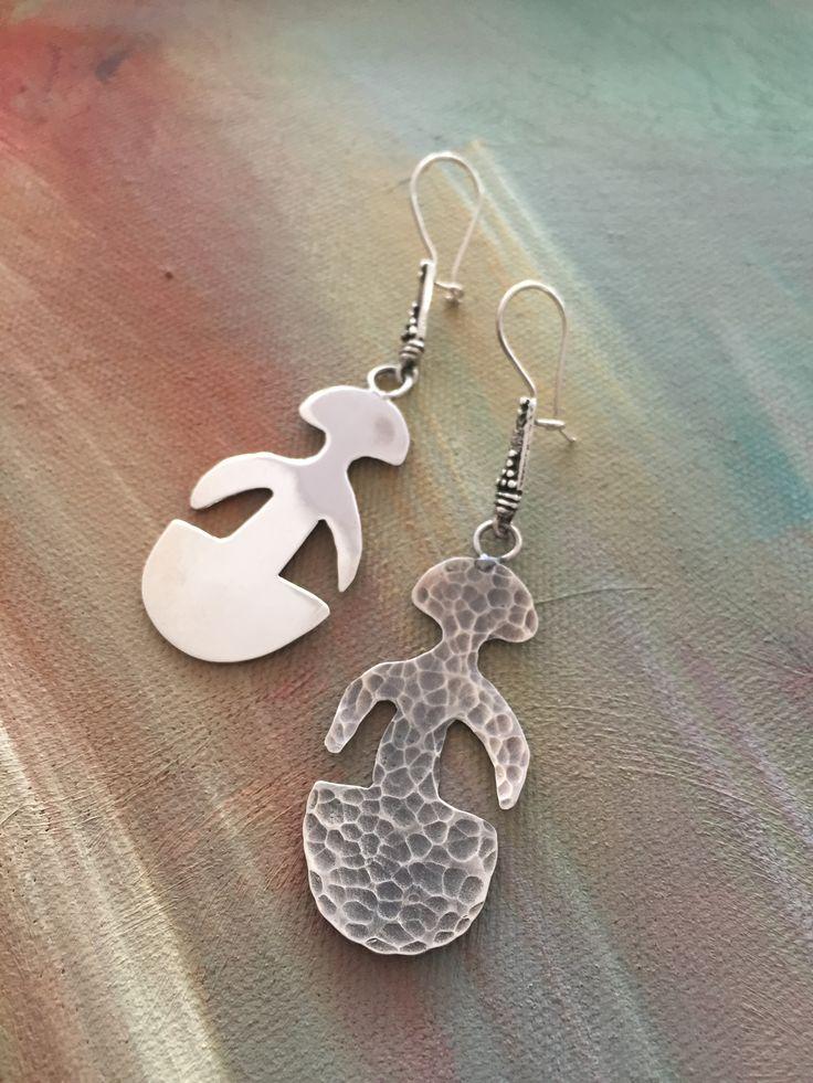 Earrings silver idol