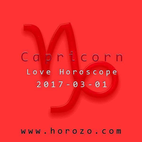 Capricorn Love horoscope for 2017-03-01: Don't let feeling short of funds get you down. There are so many fun, free events, you could go out every night without spending a dime. Make it your goal today to find a few..capricorn