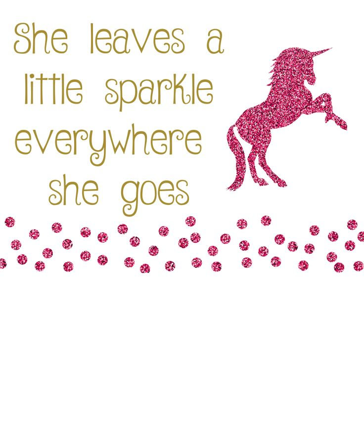 Cocoppa Wallpaper Girl Unicorn Quote Pink Sparkle Girl Leaves A Little