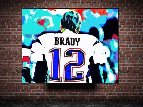 Tom Brady New England Patriots Print or Canvas Football Fan