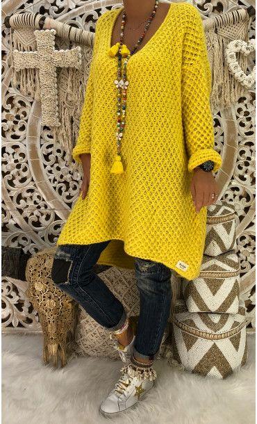 35f487e6250 Petite Robe Pull Joshua Jaune