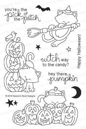 Newton's Nook Designs NEWTON'S BOO-TIFUL NIGHT Clear Stamp Set 20160902 Preview Image