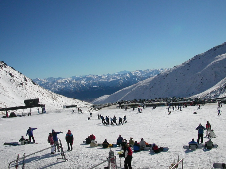 The Remarkables in NZ - skiing for the first time here!