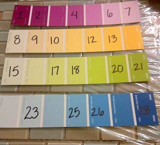 Missing number paint chip cards....could also do number patterns