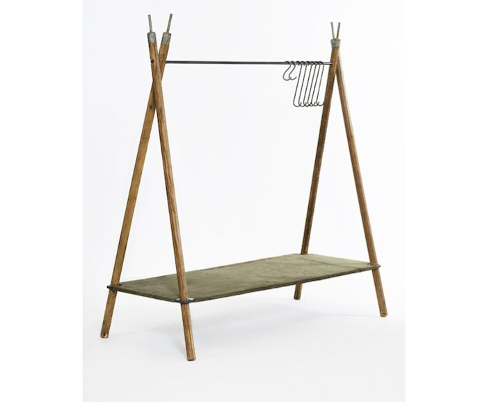 Stephen Kenn Tent Pole Clothing Rack | Remodelista