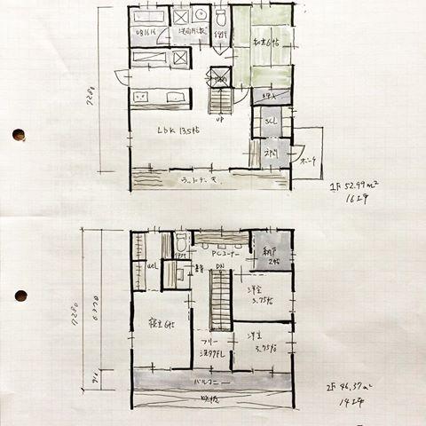 『32坪の間取り』 ・ 独立型和室が1階にある間取りです。 ・ 画像には30坪と表記しておりますが、バルコニーを合わせると32坪になります。 いつも建築基準法の延べ床面積ではなく建物の外形で面積表記しております。 ・ だんだん暖かくなってきましたが、今日はちょっと寒いです。 春よ〜来い。。 ・ #間取り#間取り図 #間取り力 #間取り集 #間取り萌え #間取り図大好き #間取りフェチ #間取り考え中 #間取りマニア #間取り図が好き #間取り図好き #間取り紹介 #三重県間取り#三重の間取り#三重県設計事務所 #三重の設計事務所#三重県建築家#三重の建築家#三重の家 #三重県マイホーム計画#マイホーム計画#マイホーム計画開始