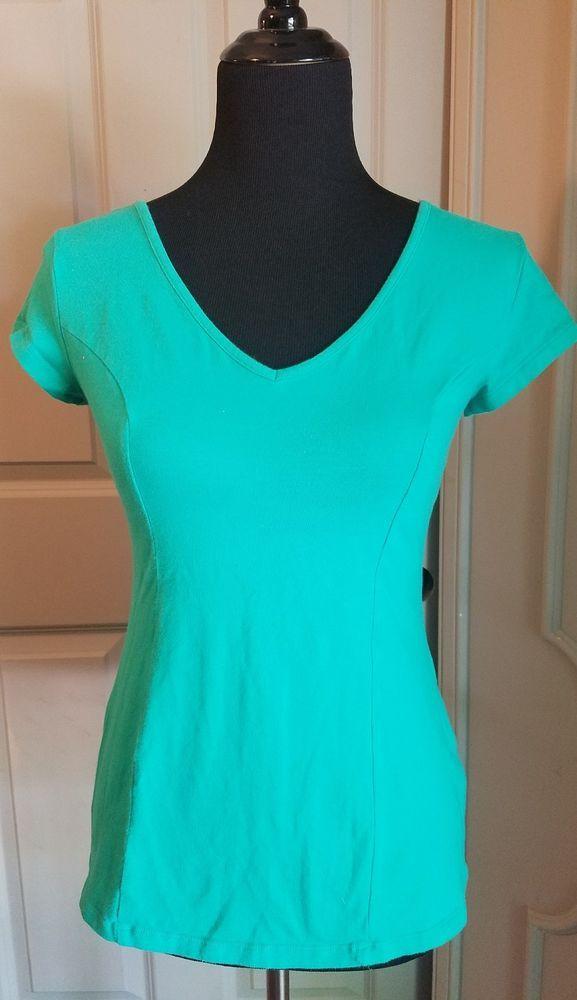 No Boundaries Juniors Size 11-13 Green Fitted Short Sleeve Top Strappy Back #NoBoundaries #Tee #Casual