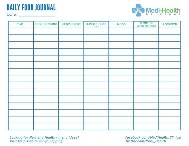 Download Free Daily Food Journal #FoodJournal #FreeFoodJournal - food journal sample