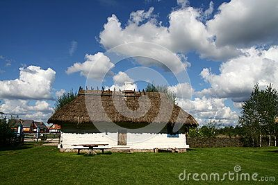 Traditional style village house in Poland
