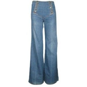 1970's high waisted flared jeans - wooohoooo I had some of these! They were soooo cool!