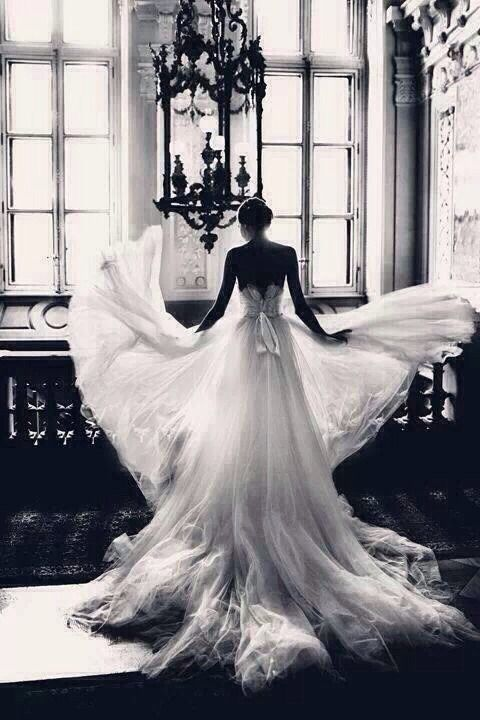 Tulle ball gown by Christian Dior on the grand staircase at the Paris Opera,